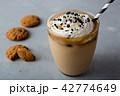 アイスカフェオレ コーヒー アイスコーヒーの写真 42774649