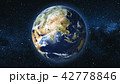 Realistic Earth Planet against the the star sky 42778846