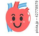 心臓 臓器 シンプルのイラスト 42778979