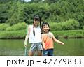 夏休み 子供 川遊びの写真 42779833