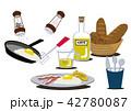 目玉焼き 卵料理 朝ごはんのイラスト 42780087