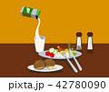 目玉焼き 卵料理 朝ごはんのイラスト 42780090