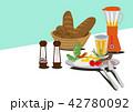 目玉焼き 卵料理 朝ごはんのイラスト 42780092