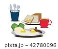 目玉焼き 卵料理 朝ごはんのイラスト 42780096