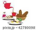 目玉焼き 卵料理 朝ごはんのイラスト 42780098