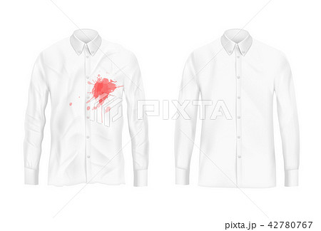 Shirt stain remover experiment concept 42780767