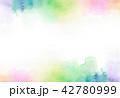 水彩 にじみ バックグラウンドのイラスト 42780999