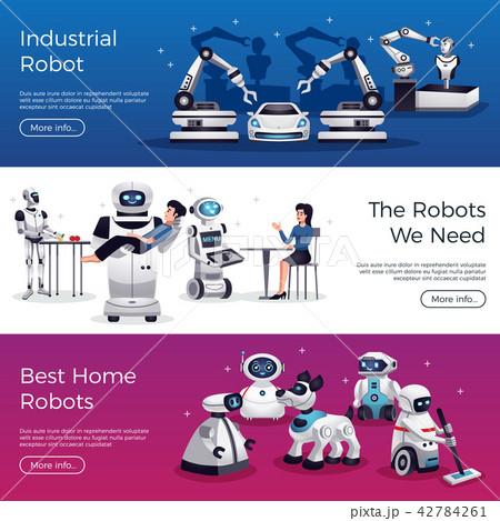 Robots Horizontal Banners  42784261
