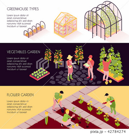 Greenhouse Isometric Banners  42784274