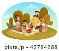 ピクニック ファミリー 家庭のイラスト 42784288