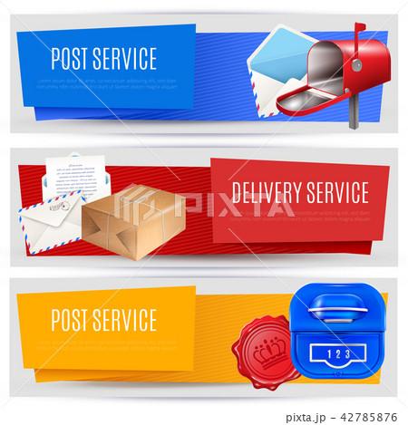 Parcel Post Banners Set 42785876