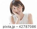 女性 人物 笑顔の写真 42787086