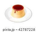 プリン 洋菓子 デザートのイラスト 42787228