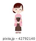 手を前で組んだ女流棋士 着物・袴 42792140