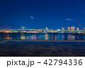 東京の夜景 レインボーブリッジ 42794336