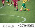 女子サッカー試合風景 42794563