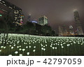 Light Rose Garden In Hong Kong City at night 42797059