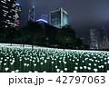 Light Rose Garden In Hong Kong City at night 42797063