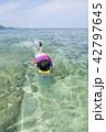 海と子供 シュノーケリング 42797645