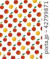 水彩風 パターン りんごのイラスト 42799871