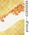 紅葉 バックグラウンド コピースペースのイラスト 42800688