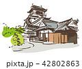 お城 古い 名所のイラスト 42802863