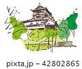 お城 古い 名所のイラスト 42802865