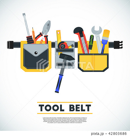 Tool belt poster. Conceptual image of tools for repair 42803686