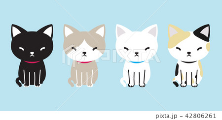 cat vector icon cartoon character calico kitten 42806261