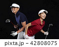 ゴルフ ゴルファー 男性の写真 42808075