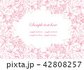 花 ラインアート ベクターのイラスト 42808257
