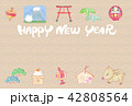 いのしし 年賀状 HAPPY NEW YEAR 42808564