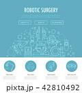 ロボット 手術 メディカルのイラスト 42810492