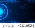 サイバー デジタル ネットワークのイラスト 42810524