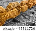 金融 ビッグデータ ビットコインのイラスト 42811720