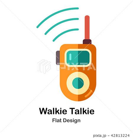 Walkie Talkie Flat Icon 42813224