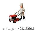 耕運機と男性 42813608