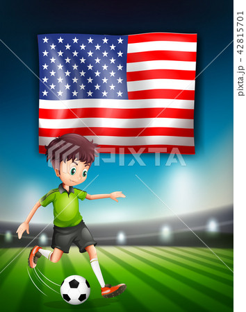 American soccer player template 42815701