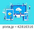 クラウド 通信 コンピューティングのイラスト 42816316