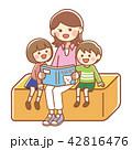 本を読む親子 42816476