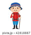 登山するための服装をした男性のイラスト 42818887