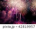 夏祭り 打ち上げ花火 花火の写真 42819957