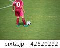 女子サッカー試合風景 42820292