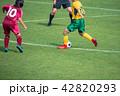 女子サッカー試合風景 42820293