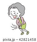 膝を痛めた老いた女性 42821458