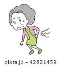 女性 痛い 腰痛のイラスト 42821459