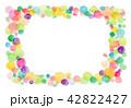 水彩 テクスチャー フレームのイラスト 42822427