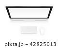 PC ディスプレイ ディスプレーのイラスト 42825013