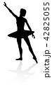 バレエ バレー ダンスのイラスト 42825055
