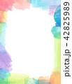 水彩 テクスチャー フレームのイラスト 42825989